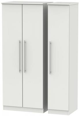 Sherwood Grey Matt 3 Door Mirror Triple Wardrobe
