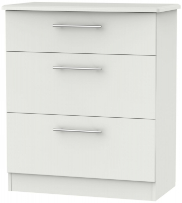 Sherwood Grey Matt 3 Drawer Deep Chest