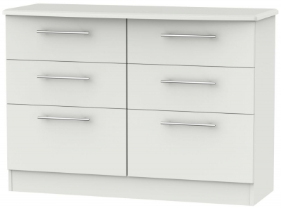 Sherwood Grey Matt 6 Drawer Midi Chest