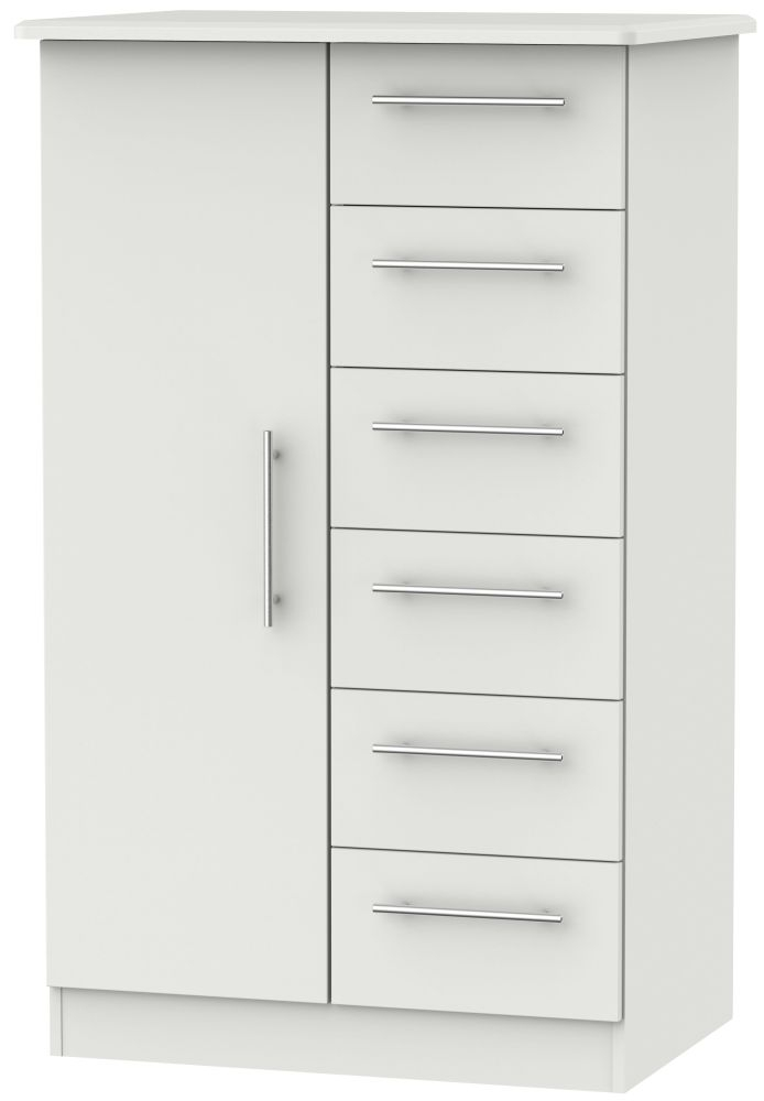 Sherwood Grey Matt 1 Door Children Wardrobe
