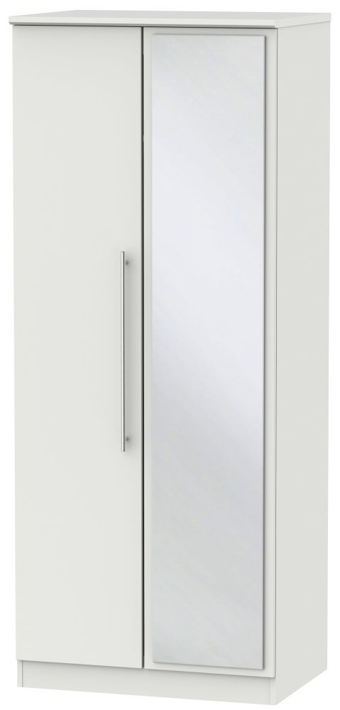 Sherwood Grey Matt 2 Door Mirror Wardrobe