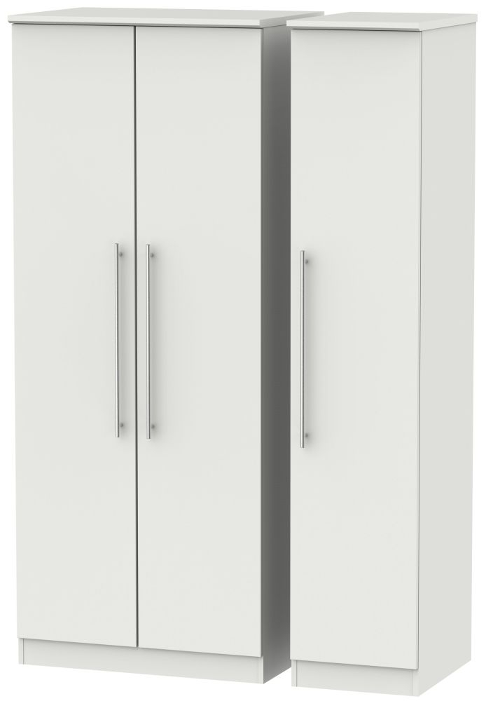 Sherwood Grey Matt 3 Door Mirror Wardrobe