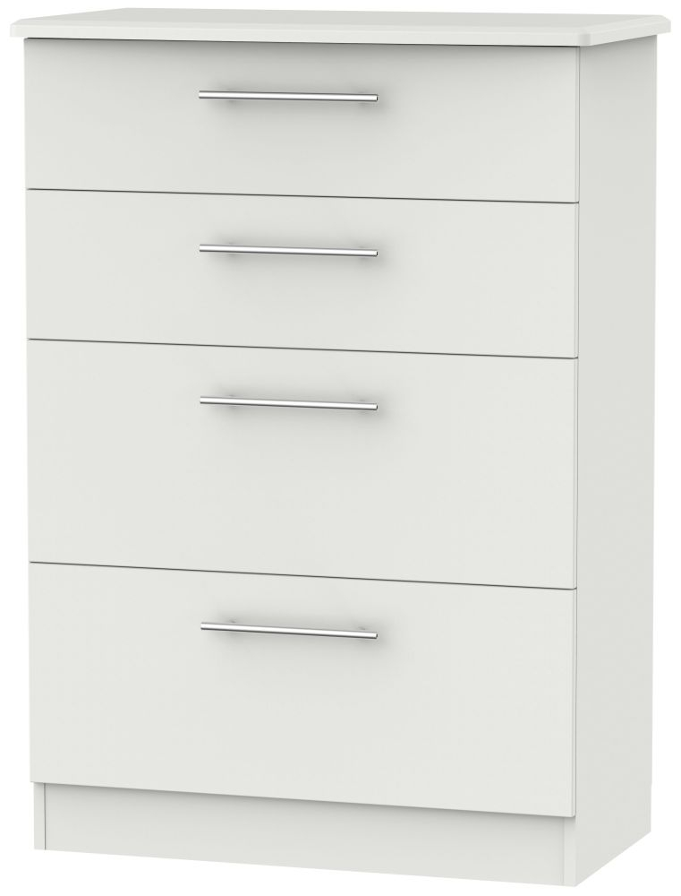Sherwood Grey Matt 4 Drawer Deep Chest