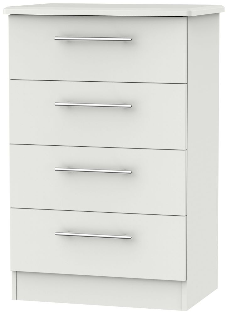 Sherwood Grey Matt 4 Drawer Midi Chest