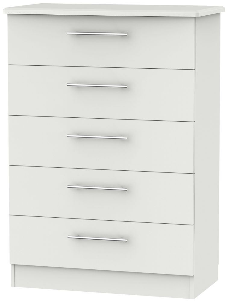 Sherwood Grey Matt 5 Drawer Chest