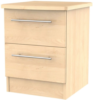 Sherwood Maple Bedside Cabinet - 2 Drawer Locker