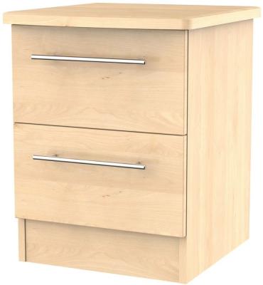 Sherwood Maple 2 Drawer Bedside Cabinet