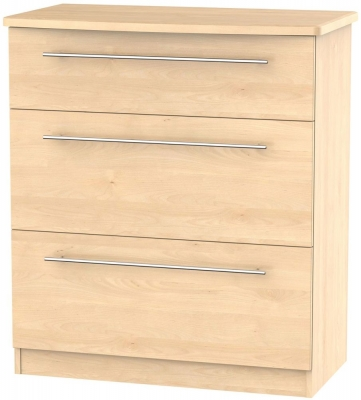 Sherwood Maple Chest of Drawer - 3 Drawer Deep