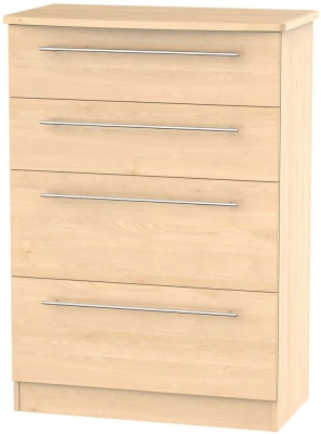 Sherwood Maple Chest of Drawer - 4 Drawer Deep