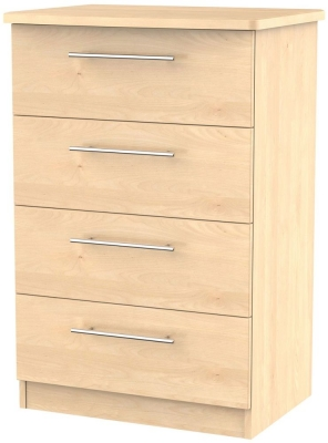 Sherwood Maple Chest of Drawer - 4 Drawer Midi
