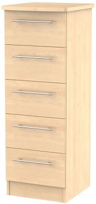 Sherwood Maple Chest of Drawer - 5 Drawer Locker