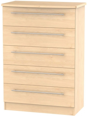 Sherwood Maple Chest of Drawer - 5 Drawer