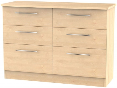 Sherwood Maple 6 Drawer Midi Chest