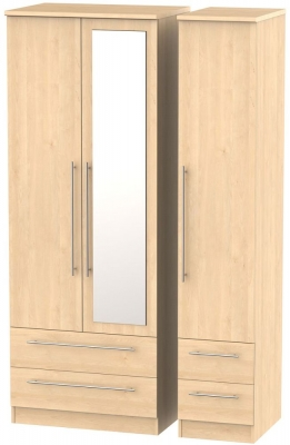 Sherwood Maple 3 Door 4 Drawer Tall Combi Wardrobe
