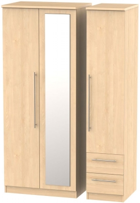 Sherwood Maple 3 Door 2 Drawer Combi Wardrobe