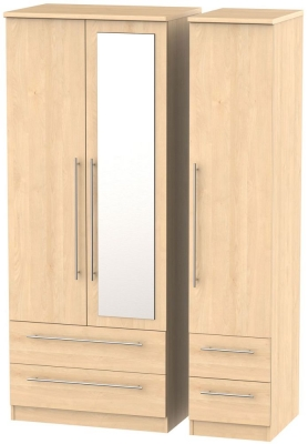 Sherwood Maple 3 Door 4 Drawer Combi Wardrobe