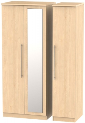 Sherwood Maple 3 Door Mirror Wardrobe