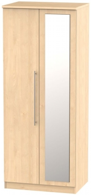 Sherwood Maple 2 Door Mirror Wardrobe