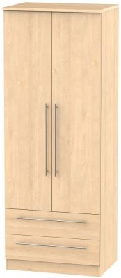 Sherwood Maple Wardrobe - Tall 2ft 6in with 2 Drawer