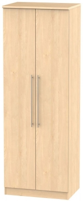 Sherwood Maple Wardrobe - Tall 2ft 6in with Double Hanging
