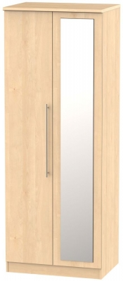 Sherwood Maple 2 Door Tall Mirror Wardrobe