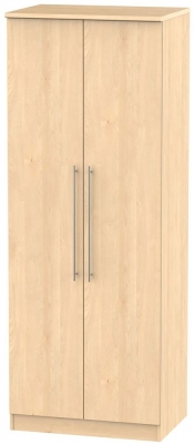 Sherwood Maple Wardrobe - Tall 2ft 6in with Plain