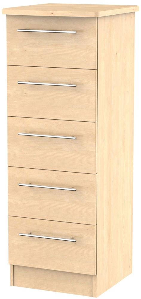 Sherwood Maple Chest of Drawer - 5 Drawer Locker