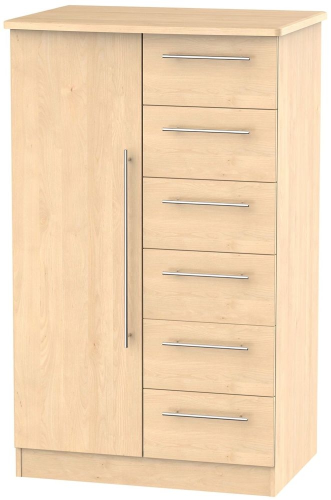 Sherwood Maple 1 Door Children Wardrobe