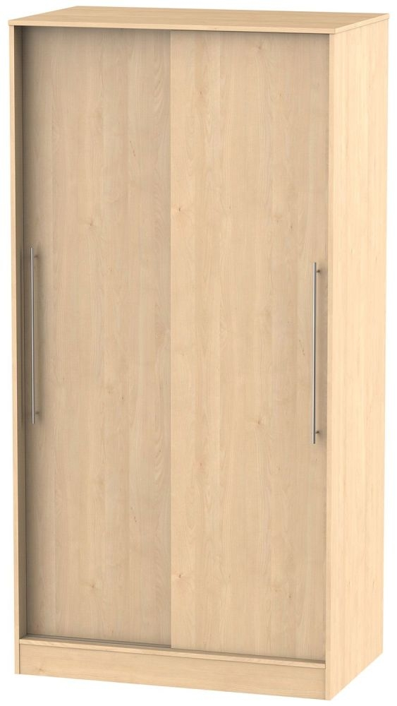 Sherwood Maple Sliding Wardrobe - Wide