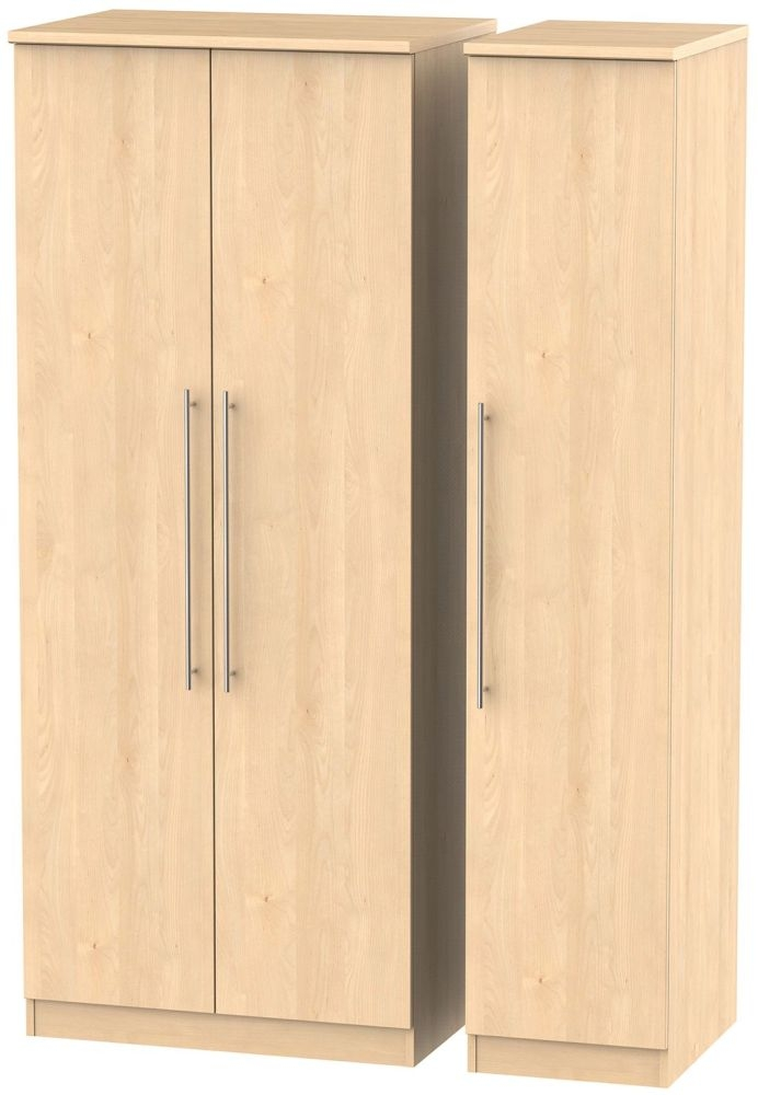 Sherwood Maple 3 Door Triple Wardrobe