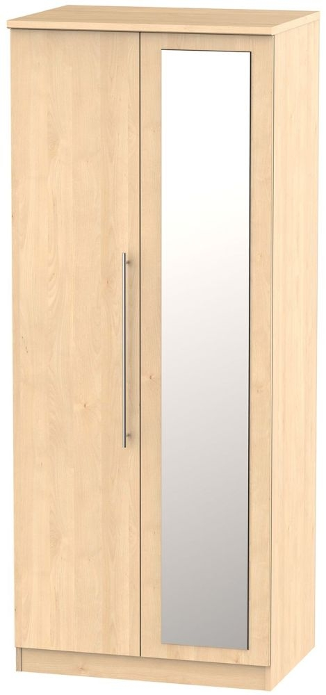 Sherwood Maple Wardrobe - 2ft 6in with Mirror