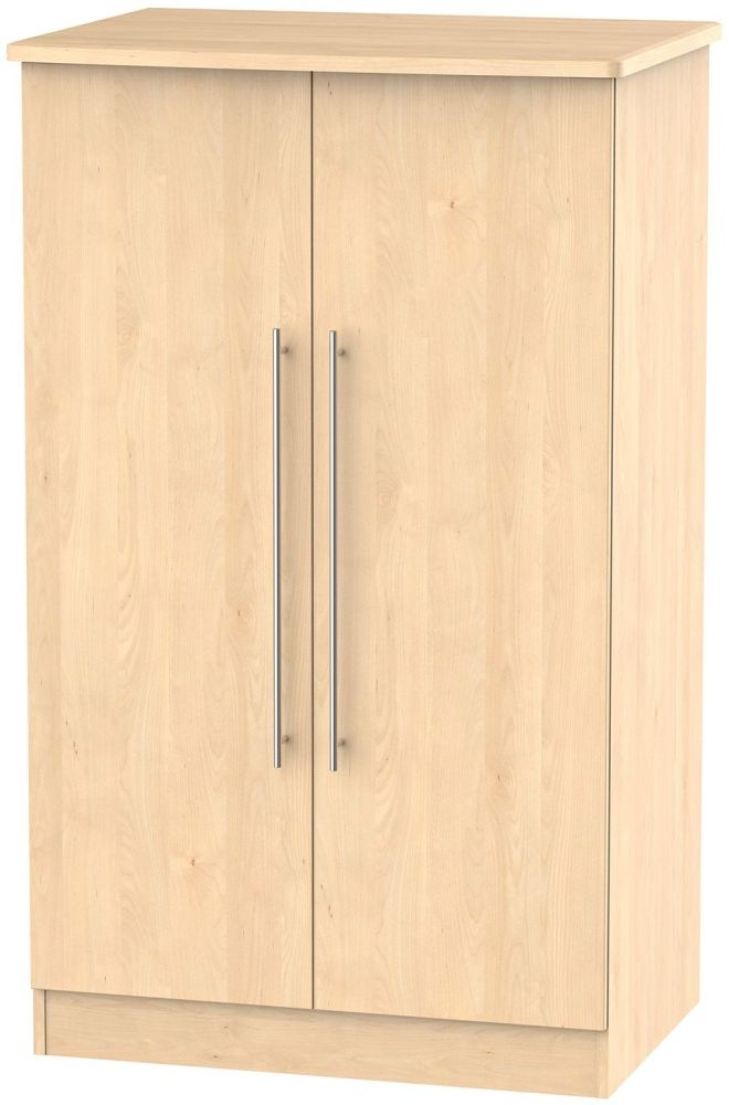Sherwood Maple Wardrobe - 2ft 6in with Plain Midi