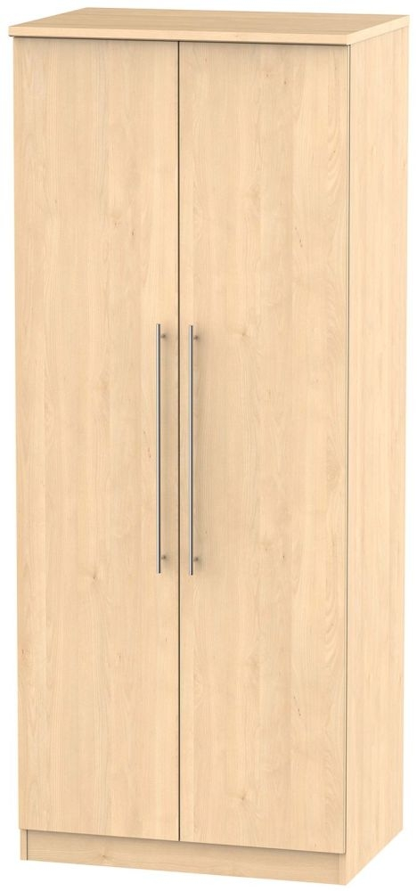 Sherwood Maple Wardrobe - 2ft 6in with Plain