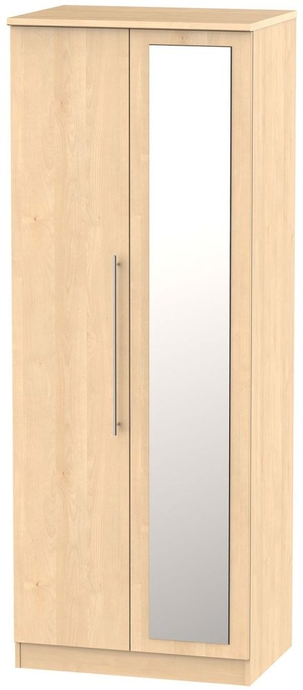 Sherwood Maple Wardrobe - Tall 2ft 6in with Mirror