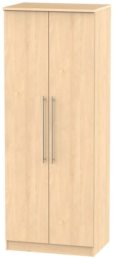 Sherwood Maple 2 Door Tall Plain Double Wardrobe
