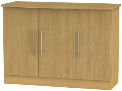 Sherwood Modern Oak 3 Door Narrow Sideboard