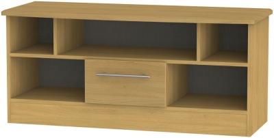 Sherwood Modern Oak 1 Drawer Open TV Unit