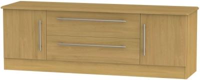 Sherwood Modern Oak 2 Door 2 Drawer Wide TV Unit