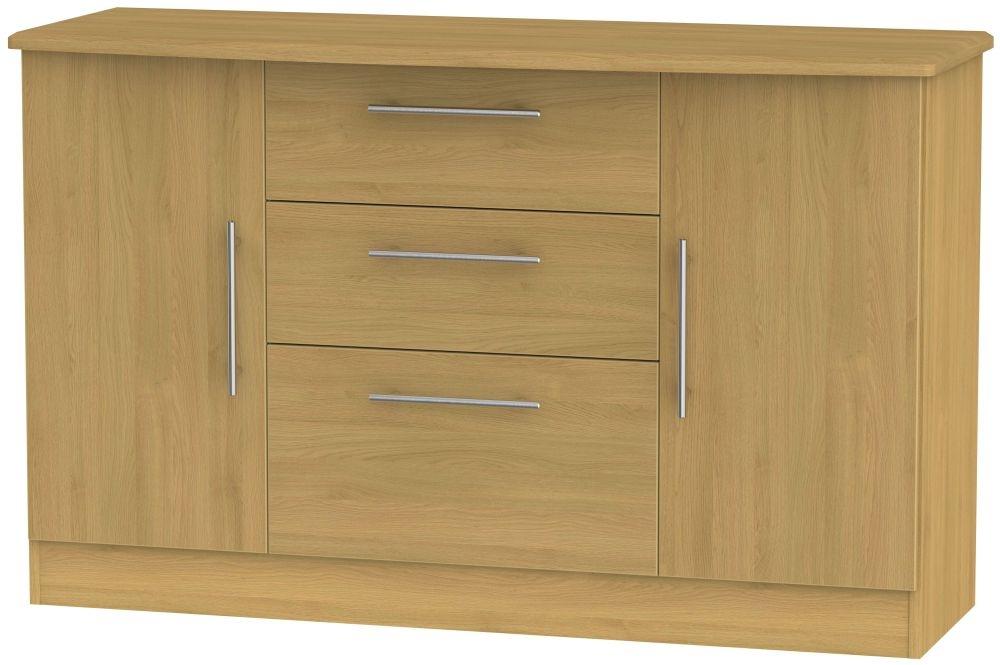 Sherwood Modern Oak 2 Door 3 Drawer Sideboard