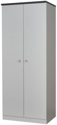 Sherwood Napoli with Grey Graphite Top 2 Door Plain Wardrobe