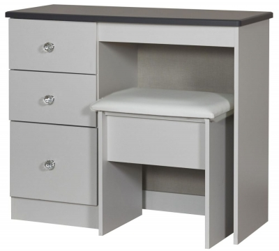 Sherwood Napoli with Grey Graphite Top Vanity Kneehole Dressing Table
