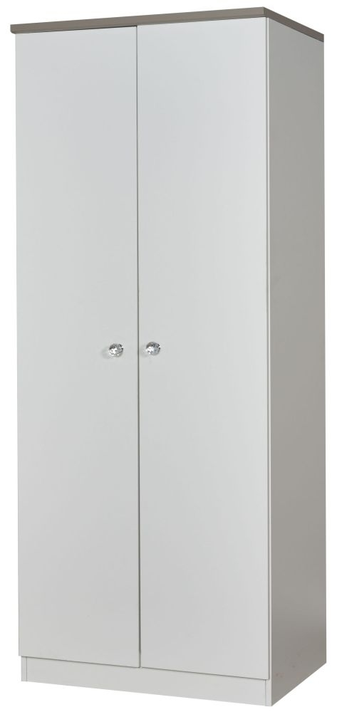 Sherwood Napoli with Mushroom Top 2 Door Plain Wardrobe