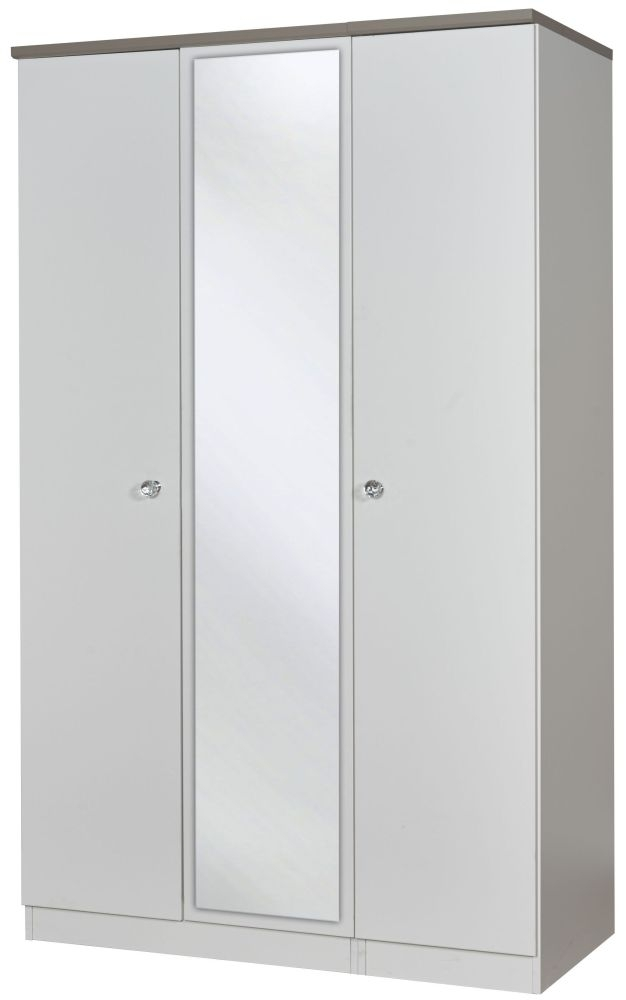 Sherwood Napoli with Mushroom Top 3 Door Mirror Triple Wardrobe