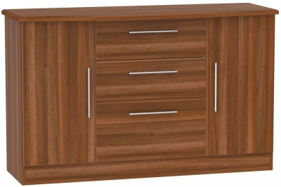 Sherwood Noche Walnut 2 Door 3 Drawer Sideboard