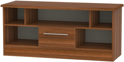 Sherwood Noche Walnut 1 Drawer Open TV Unit