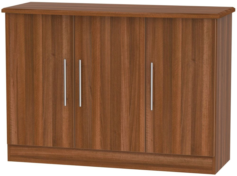 Sherwood Noche Walnut 3 Door Narrow Sideboard