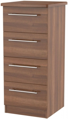 Sherwood Noche Walnut Chest of Drawer - 4 Drawer Locker