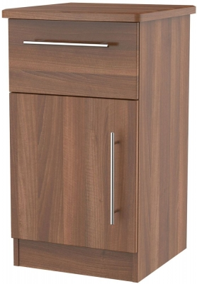 Sherwood Noche Walnut 1 Door 1 Drawer Cabinet