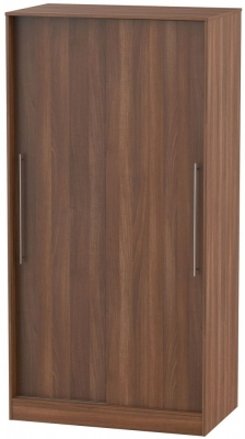 Sherwood Noche Walnut 2 Door Sliding Wardrobe