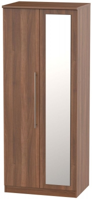 Sherwood Noche Walnut 2 Door Mirror Wardrobe